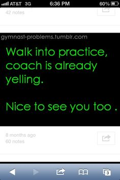 I hate that, after a bad game of cheering the night before and you walk in and just ugh
