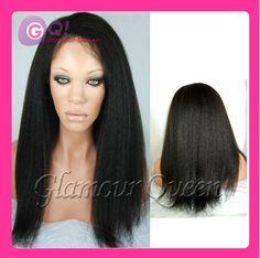 GQ italian yaki straight human hair wigs glueless full lace wigs italian yaki lace wig with baby hair for black women cheap