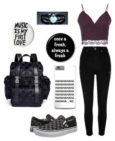 """""""MUSIC IS MY FIRST LOVE"""" by x-julia ❤ liked on Polyvore featuring River Island, Related, Vans, Sevil Designs and Valentino"""