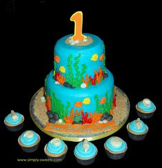 Under the Sea theme cake by Simply Sweets, via Flickr