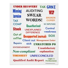 AUDITING SWEAR WORDS ! POSTER