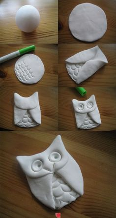 air dry clay, home crafts, clay owl, owl crafts, salt dough, clay ornaments, diy home, owls, diy projects
