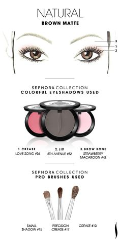 NATURAL: Brown Matte HOW TO. #sephoracollection #sephora #eyeshadow