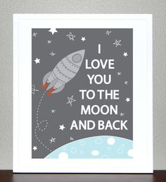 Perfect for the space theme! - Pinned for Kidfolio, the parenting mobile app that makes sharing a snap. #kidsrooms #spacetheme