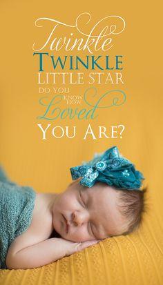 Plano Newborn Photographer - newborn girl yellow twinkle twinkle