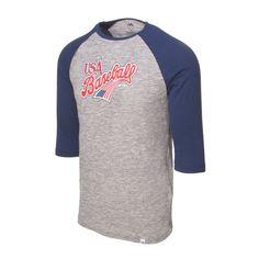 9e997b84 Milwaukee Brewers Fanatics Branded Distressed Team Logo Tri-Blend ...