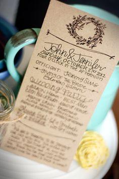 Sweet Wreath : Wedding Ceremony Programs