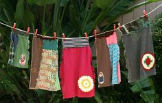 T-shirt skirts and more!  Cute ways to use old t-shirts