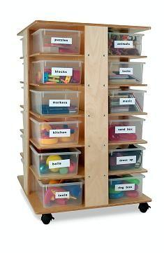 Opentip.com: Whitney Bros WB0702 Preschool Cubby Tower Art Storage Furniture