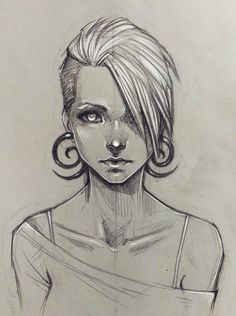 Random girl by sashajoe.deviantart.com on @deviantART. Sketch / Drawing Inspration