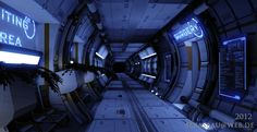 A little Sci-Fi Environment I created in UDK.