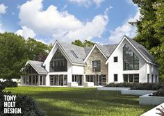 Tony Holt Design_Link Road_New Build_Index Image. Residential Architecture, House Architecture, Architecture Details, Building A House, Build House, Property Design, Modern Farmhouse Exterior, Exterior Remodel, Dream House Exterior