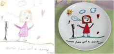 Assiette réalisée par Cyndy Ochoa, lartiste-reproductrice de LE MONDE DE CYNO, inspirée par les illustrations qui PUNCH LOEIL du PETIT ARTISTE «PUNCHEUR», Mathis, l'un des GRANDS GAGNANTS DU PREMIER CONCOURS POUR UNE FÊTE DES MÈRES QUI PUNCH LŒIL !