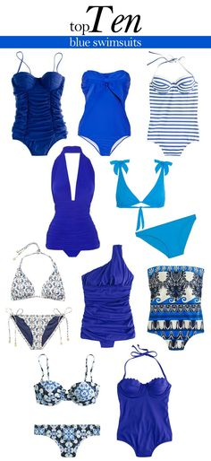 Top 10 Blue Swimsuits
