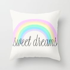 rainbow sweet dreams for girly or children's decor
