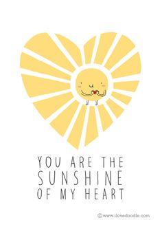 Sunshine of my heart http://www.ilovedoodle.com