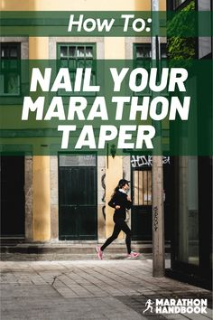 the marathon taper is a key part of the marathon training process - the decrease in training volume is important for getting you marathon ready. Here's how to nail your marathon taper! Half Marathon Tips, Half Marathon Motivation, Running Half Marathons, Half Marathon Training Plan, First Marathon, Marathon Running, Running Motivation, Running Humor, Running Workouts