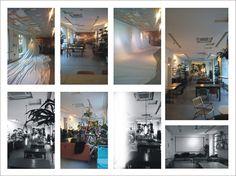 Bar restaurant, ceiling solution, design by Dario paini