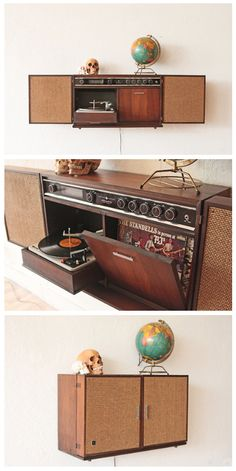 1960s morse stereophonic high fidelity am fm phonograph console with built in bar diy. Black Bedroom Furniture Sets. Home Design Ideas