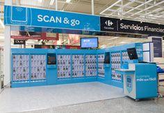 Diseño de señalética para los stands de Scan&Go de CARREFOUR. Madrid, 2011.