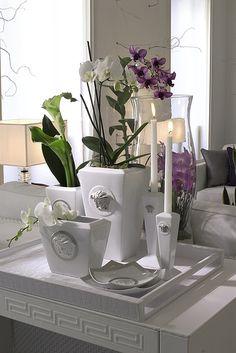 Versace Medusa Silver Vase