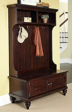 full hall tree brown entryway coat rack stand home furniture decor storage bench amazing entryway furniture hall tree image