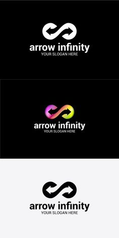 arrow infinity. Business Logo Template Design