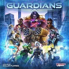 V karetní hře Guardians si hráči vybírají a sestavují tým tří jedinečných hrdinů z řady mocných super-bojovníků. Fight For Justice, World Government, Mighty Ape, New West, Movie Tickets, Law And Order, First World, A Team, Card Games