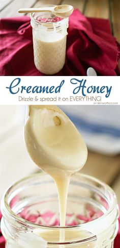 Making Creamed Honey is a simple process that requires just one simple & delicious ingredient, honey. It's smooth, spreadable & over the top amazing! So honey lovers, you need to take your honey to a whole new level & try it! It's easy & sooooooo good! It's great for saving all that crystallized honey too.