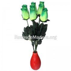 rosa-verde-grande Yoshi, Grande, Wooden Flowers, Green Rose