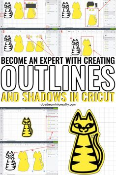 Learn how to achieve beautiful results with making smooth outlines and shadows in Cricut Design Space. Learn how to make Outlines and Shadows with Cricut Images. Learn how to make Outlines and Shadows with Cricut Fonts.