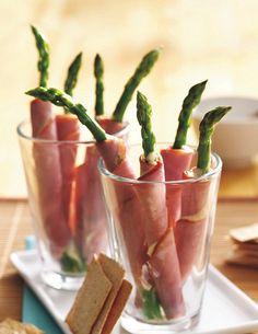 Ham and Asparagus Rolls Recipe  #fingerfood #shopfesta