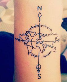 rose des vents signification tatouage boussole