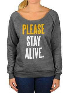 "Inspired by the blog written on World Suicide Prevention Day, ""Please Stay Alive"" is TWLOHA's attempt to remember the heart of suicide prevention, which is people.This item will ship by Sept. 28."