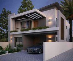 28 New Ideas exterior bungalow balconies Bungalow House Design, House Front Design, Best Modern House Design, Indian Home Design, Modern Architects, Dream House Exterior, Villa Design, Facade House, Home Fashion