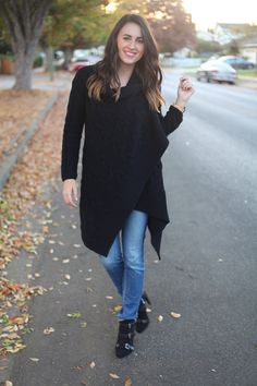 A blanket cardigan and ombre tips – look out fall!