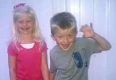 Twins Brandon and Jenna Schoeller on their first day of first grade at Ben Chambers.