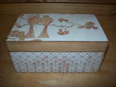 Two Birds Sittin In a Tree Wooden Box by EspeciallyMade on Etsy, $18.00