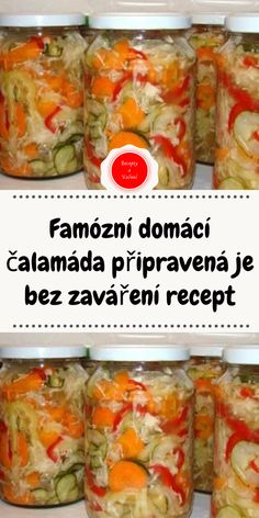 Czech Recipes, Ethnic Recipes, Home Canning, Marmalade, Pickles, Crockpot, Food To Make, Food And Drink, Cooking Recipes