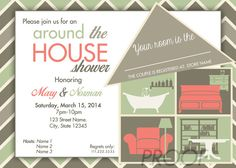 Around The House Wedding Couple Shower Invitation Party Ideas