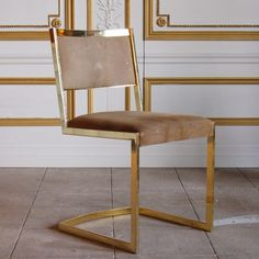 Brass frame chair // Pinned by andathousandwords.com