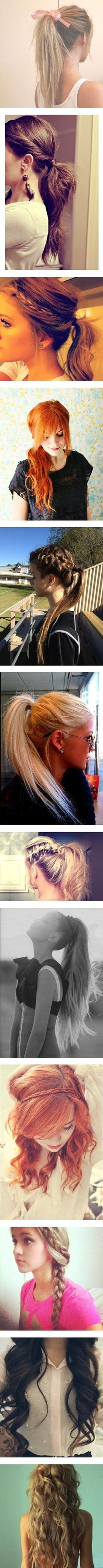 Beautiful long styles. Motivation to grow out my hair