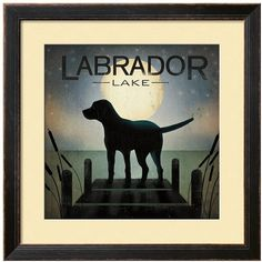 Art.com ''Labrador Lake'' Framed Wall Art