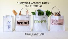 TUTORIAL: Recycled Grocery Totes