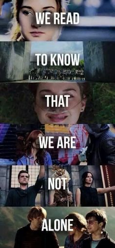Divergent, The Maze Runner, TFIOS, The Hunger Games, Harry Potter❤️❤️ Don't know what is I Love Books, Good Books, Books To Read, My Books, Book Memes, Book Quotes, Citations Film, The Hunger Games, The Fault In Our Stars