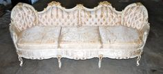 Vintage French Regency Style Tufted Sofa / Couch by Chronologies, $888.00