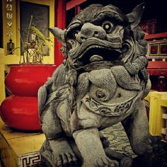 Stone lion at the Phil. Photo by Stone Lion, Fu Dog, Cebu City, Japanese House, Future House, Philippines, Temple, Lion Sculpture, Spirituality