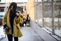 On the Streets of New York Fashion Week Fall 2015 - New York Fashion Week Fall 2015 Street Style Day 6-Wmag