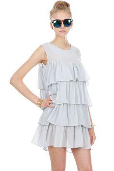TIERED GAUZE DRESS STYLE #: 1506170073