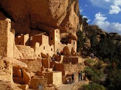 Mesa Verde National Park, Colorado.  52,121.93 acres.  This area has over 4,000 archeological sites of the Ancestral Pueblo, who lived here for 700 years.  Cliff dwellings built in the 12th and 13th centuries include Cliff Palace which has 150 rooms and 23 kivas, and the Balcony House with passages and tunnels.